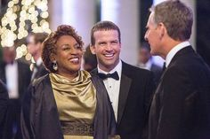 The NCIS team investigates a deadly explosion at the Navy-Marine Corps Relief Gala event they were attending, but further examination reveals Pride was the intended target of the bomb, on NCIS: NEW ORLEANS, Jan 6 (9:00-10:00, ET/PT), on the CBS Television Network. Pictured L-R: CCH Pounder as Dr. Loretta Wade, Lucas Black as Special Agent Christopher LaSalle, and Scott Bakula as Special Agent Dwayne Pride Photo: Skip Bolen/CBS ©2014 CBS Broadcasting, Inc. All Rights Reserved. S1 E11.