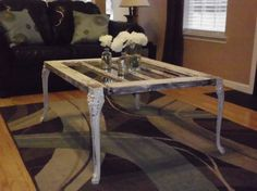 Handmade Coffee Table made from Antique Door by RusticRecreations, $295.00