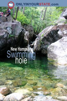 Don't miss the most beautiful swimming hole in New Hampshire. This natural emerald pool is picturesque and refreshing. Find it on a short, easy hike. Vacation Trips, Vacation Spots, Day Trips, Maine Road Trip, Hidden Beach, Spring Lake, Swimming Holes, Summer Travel, New Hampshire