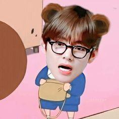 Bts Taehyung, Funny Faces, Taekook, Bts Memes, My Idol, Chibi, Kawaii, Cartoon, My Love