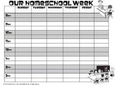 Homeschool Weekly Schedule Template | Homeschool Forms ...