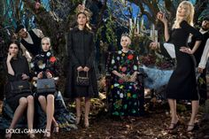 Dolce & Gabbana enlists supermodels Claudia Schiffer and Bianca Balti joined by Kate Bogucharskaia and Nastya Sten for the fairytale Fall Winter advertisement lensed by Domenico Dolce. Claudia Schiffer, Dolce & Gabbana, Cara Delevingne, Edie Campbell, Fashion Advertising, Advertising Campaign, Alexa Chung, Kendall Jenner, Kate Bogucharskaia