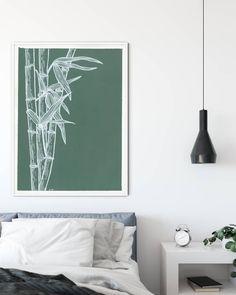 Bamboo Art, Botanical Art, Line Drawing, Gouache, Modern Art, Photo And Video, Wall Art, Interior Design, Drawings