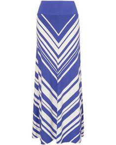 Dakota Chevron Stripe Maxi Skirt