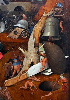 Hieronymus Bosch, The Last Judgment triptych, central panel, detail. (Jeroen van Aken, ca 1450-1516), (1486), oil on wood, Groeninge Museum, Bruges