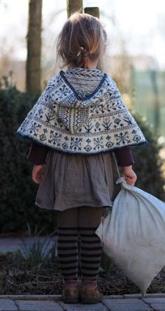 fair isle cape. by patsy