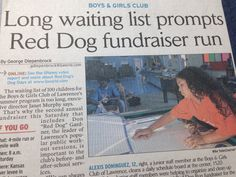 #TBT This week's throwback shows a Lawrence Journal World article about our 2nd Annual Red Dog Run in 2006!   Here we are eight years later gearing up for our 10th and final Red Dog Run. It's been a great decade and we are so thankful for the tremendous amount of support we've received in the last ten years.   If you haven't yet, register for our October 4th race to help us go out with a bang! http://mysportkc.org/search/event.aspx?id=27444