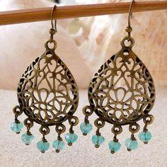 Boho Earrings Drop Earrings Gift Idea Chandelier