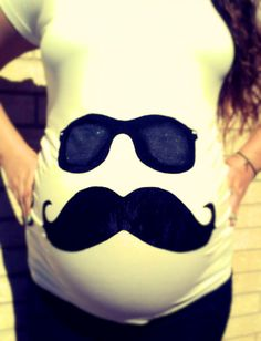 Mustasche Belly Maternity by LittleDeeTails on Etsy