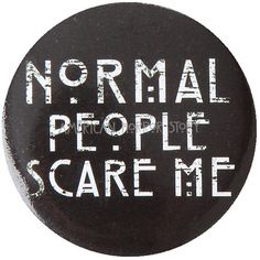 American Horror Story Normal People Pin Hot Topic (65 BAM) ❤ liked on Polyvore featuring jewelry, brooches, pin jewelry, pin brooch, black brooch, black jewelry and american broach
