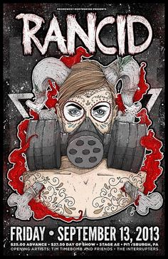 Rancid Stage AE Poster (Official) by Nina Zivkovic, via Behance