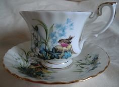 Vintage Royal Albert Cup and Saucer Duo by PrettyVintageHome