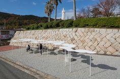 小豆島のバス停 | Tato Architects – タトアーキテクツ / 島田陽建築設計事務所 Japan Design, Hadid Architect, Landscape Architecture, Sidewalk, Public, River, Architects, Space, Parks