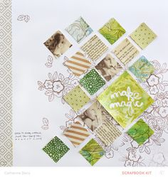 #papercraft #scrapbook #layout. Just The Two of Us by Catherine Davis at @studio_calico