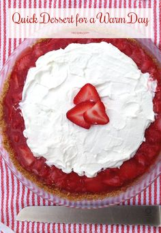Treat yourself to a simple, creamy #strawberrypie.
