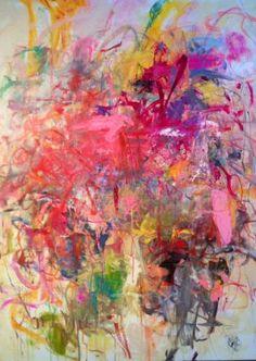 "Saatchi Art Artist Sandy Welch; Painting, ""I LOVE YOU JOAN MITCHELL   "" #art"