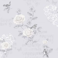 Coloroll Jenny Wren Wallpaper French Grey (M0835) - Coloroll from I love wallpaper UK