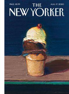 New Yorker Covers, The New Yorker, Capas New Yorker, Hot Dog Stand, Wayne Thiebaud, Cartoon Sketches, Print Magazine, Magazine Design, Funny Design