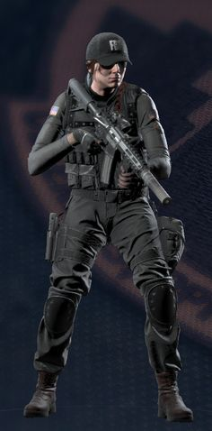 """Eliza """"Ash"""" Cohen is an Attacking Operator featured in Tom Clancy's Rainbow Six Siege. She is equipped with a low armor rating but has a high mobility in return. Ash's unique ability is being able to wield and shoot the M120 CREM with 2 breaching rounds which will burrow into a surface and detonate automatically. Born and raised in Jerusalem, Israel, Cohen enrolled at Tel Aviv University after secondary school in the Engineering program. It was during this time she did a sem..."""