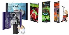 Affordable trade show displays, pull up / pop up banner stands, booths & banner display printing for Toronto, Mississauga, Canada. Request a quote now! Display Banners, Fabric Display, Brochure Stand, Pop Up Banner, Portable Display, Banner Stands, Outdoor Banners, Event Organization, Banner Printing