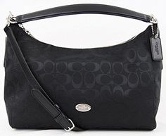 Best Signature EW Celeste Hobo Shoulder BagSignature C print fabric with leather trim and handle Polished silver tone hardware, top zip closure Interior fully lined with zip and slip pockets