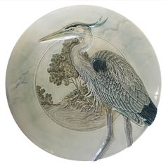 Great Blue Heron bowl, Ceramic nature wall art, serving dish, sculpted 10 inch one of a kind dish by MedicineBluffStudio on Etsy Ceramic Bowls, Ceramic Art, Blue Heron, Sell On Etsy, Sculpting, Dish, Herons, Ceramics, Pinterest Board