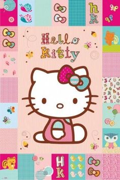 $9.49 Posters: Hello Kitty Poster - Patches (36 x 24 inches)  From 1art1   Get it here: http://astore.amazon.com/ffiilliipp-20/detail/B007AGGLS2/188-1303084-2759747