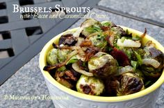 THE BEST Roasted Brussels Sprouts with Bacon recipe... perfect for your Thanksgiving dinner!!!!