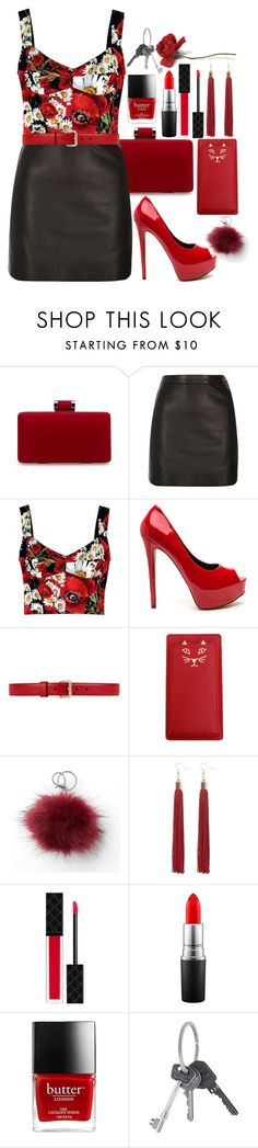 """""""Homo Homini Lupus ♥"""" by shyanimallover5 ❤ liked on Polyvore featuring River Island, Dolce&Gabbana, Gucci, Charlotte Olympia, Mudd, MAC Cosmetics and Givenchy"""