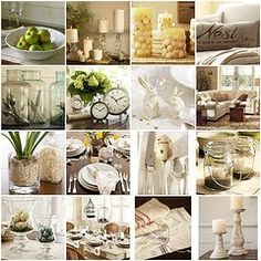 collected creams from pottery barn