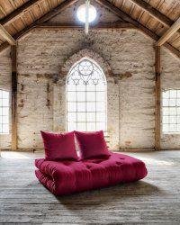 Détails Canapé lit en pin massif SHIN SANO matelas futon couchage 140*200cm