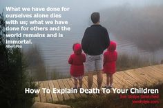 How To Explain Death To Your Children