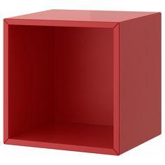 IKEA - VALJE, Seinäkaappi, punainen, , Erikokoisia ovellisia, ovettomia tai laatikoilla varustettuja kaappeja yhdistelemällä on mahdollista rakentaa omiin tarpeisiin sopiva kokonaisuus.Helppo ja nopea koota; puutapit napsautetaan valmiiksi porattuihin reikiin.Mahdollista täydentää erikseen myytävillä PALLRA-laatikoilla ja -minilipastolla.