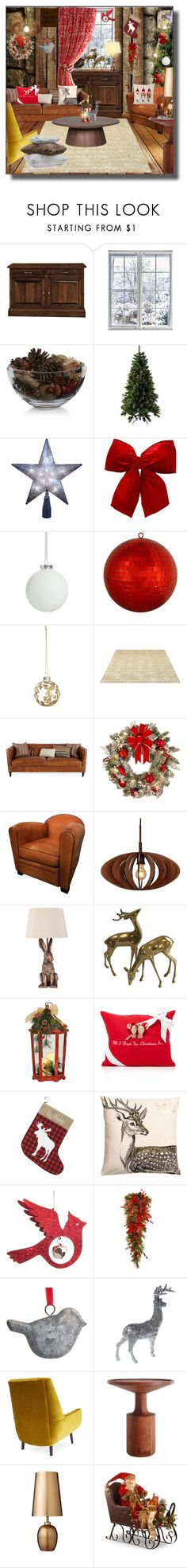 """""""Oh so Happy!"""" by kelly-floramoon-legg on Polyvore featuring interior, interiors, interior design, home, home decor, interior decorating, DutchCrafters, Crate and Barrel, Kurt Adler and Ball"""