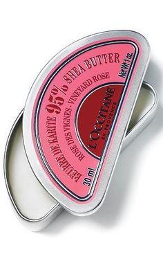 Beurre de karité, de L'Occitane en Provence. En Rose des Vignes. 18 $. Info: loccitane.com