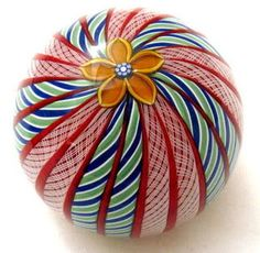 Glass Paperweight - different. Not twisted pieces. Unusual.