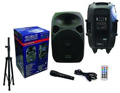 Absolute USA US2500 2Way 15 3500W Speaker BuiltIn Bluetooth with Wire Microphone  Speaker Stand *** AMAZON Great Sale