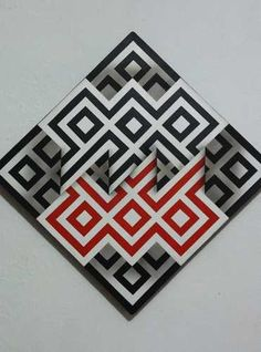 Cuadros Modernos Decorativos Geometricos, Omar Rayo - $ 145.000 en Mercado Libre Optical Illusion Quilts, Optical Illusions, Opt Art, Geometry Pattern, Geometric Wall Art, Illusion Art, Art Sketchbook, Fractals, Stencils