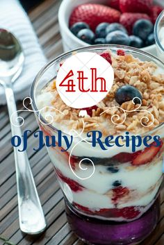4th of July Recipes *Giveaway*  Easy and colorful Fourth of July recipes