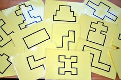 In Lieu of Preschool: Easy DIY Block Puzzles: Practice Estimating and Counting