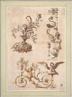 Cave to Canvas, Charles-Louis Clérisseau, Ornamental Design, c....