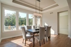 Maple floors, coffer ceiling, large windows Oakland Hills, Maple Floors, Dining Room, Dining Table, Coffer, New Homes For Sale, Large Windows, Condominium, How To Take Photos