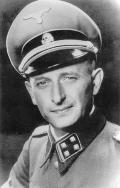 """The face of Death: Adolf Eichman, the SS lieutenant colonel who was the main organizer of the """"administrative"""" side of the Holocaust. He was abducted by Israeli agents from Argentina, tried in Israel, and hanged in 1962. His body was cremated and his ashes were scattered at sea."""