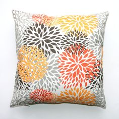 Premier Prints Blooms Chili Pepper Pillow Cover by Modernality2, $19.95