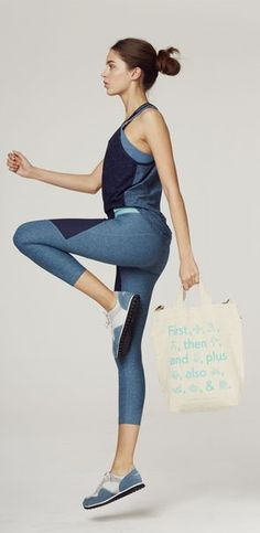 Outdoor Voices x Classpass Fashionable Workout Clothes in Tones of Blue: (http://www.racked.com/2015/12/7/9861022/outdoor-voices-classpass#4895613)