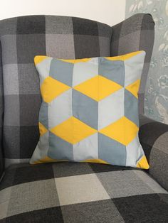 Excited to share the latest addition to my shop: Geometric cushion