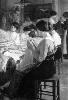 Atelier de couture de chez Drecoll.
