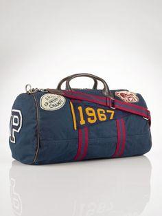 8d8f8a91348 Canvas Stadium Duffel Bag - Polo Ralph Lauren Travel Bags - RalphLauren.com  Vintage Backpacks