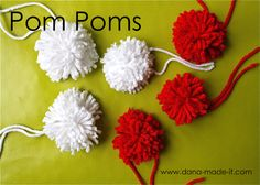 Tinkerbell 1/2 coming up!!  Pom Poms, a very simple tutorial