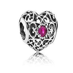 d51444d6a Pandora July Signature Heart Birthsto… Pandora Bracelets, Pandora Jewelry,  Pandora Charms, June